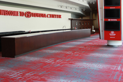 Carpet at Toyota Center Installed by Texas Floor Covering
