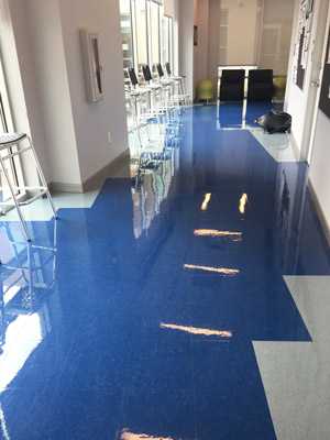 Vinyl Composition Tile (VCT) installation in Houston.