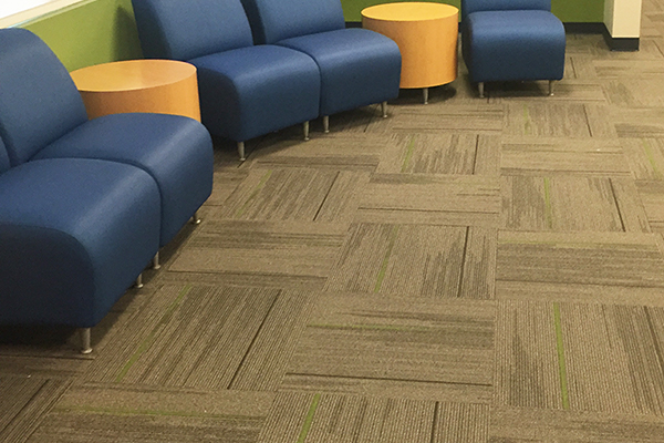 Carpet floor installation in a Houston office building.